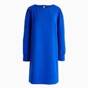 J Crew Long Sleeve Dress In Everyday Crepe, 4P